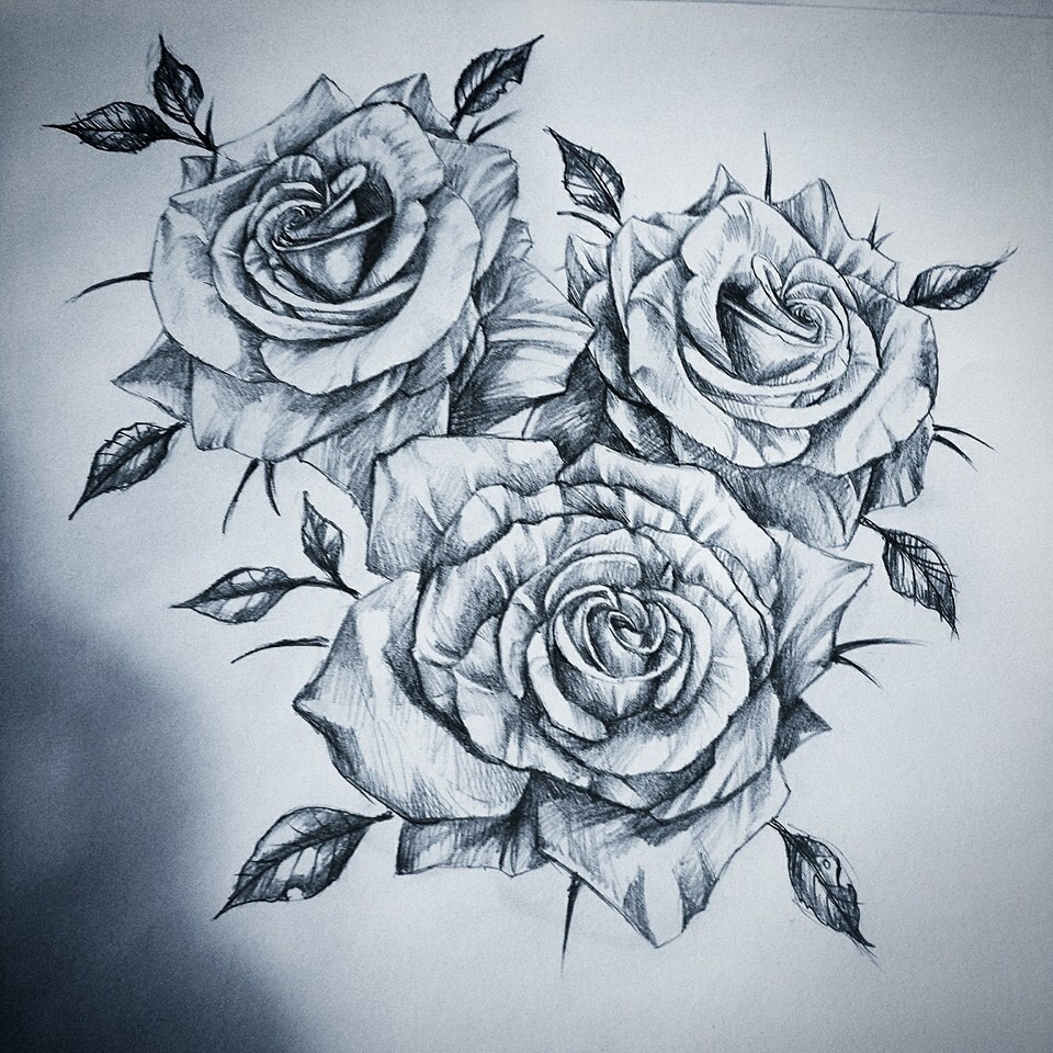 960x960 Roses Tattoo Draw Discovered By Lilith On We Heart It