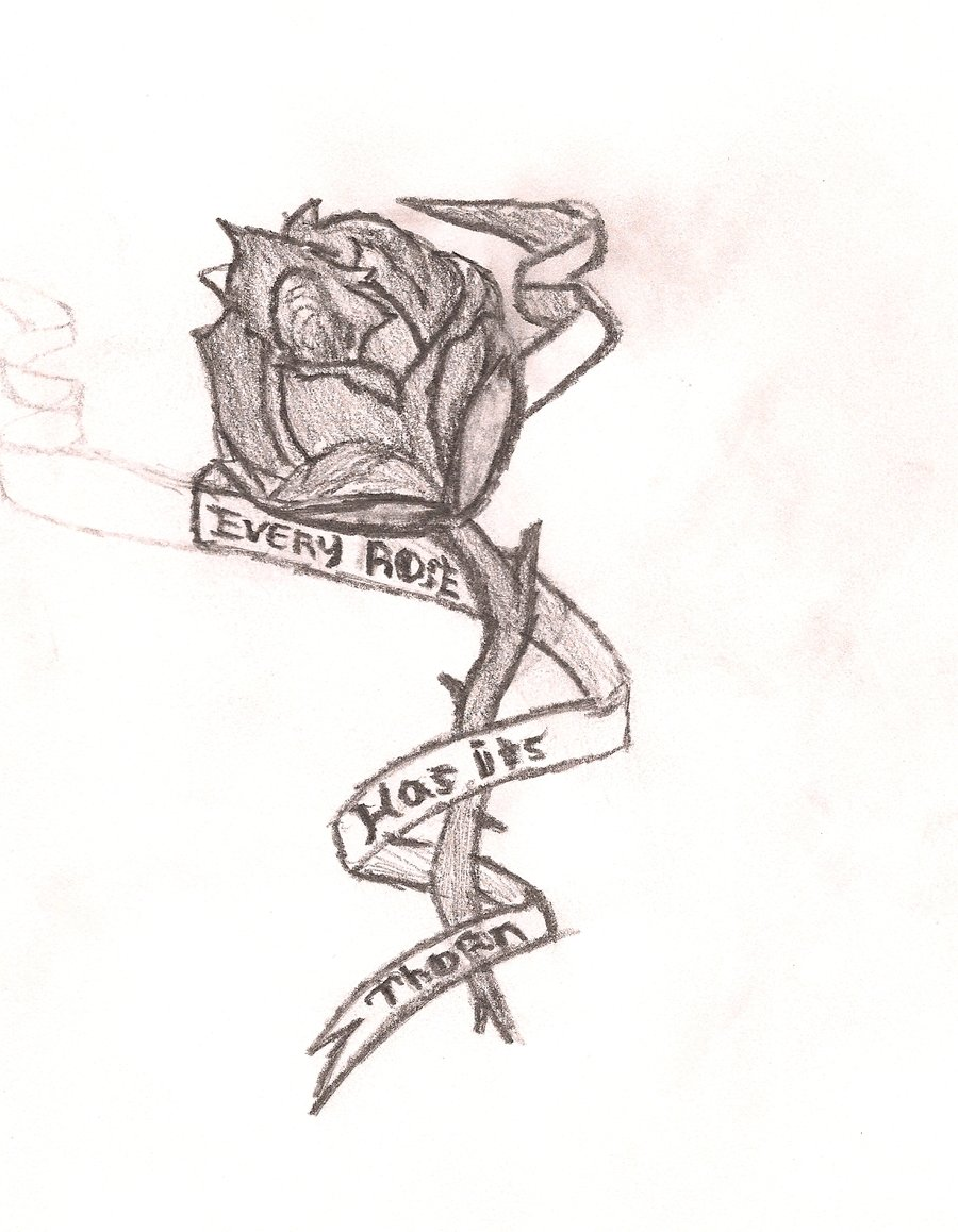 900x1158 Every Rose Has Its Thorn By