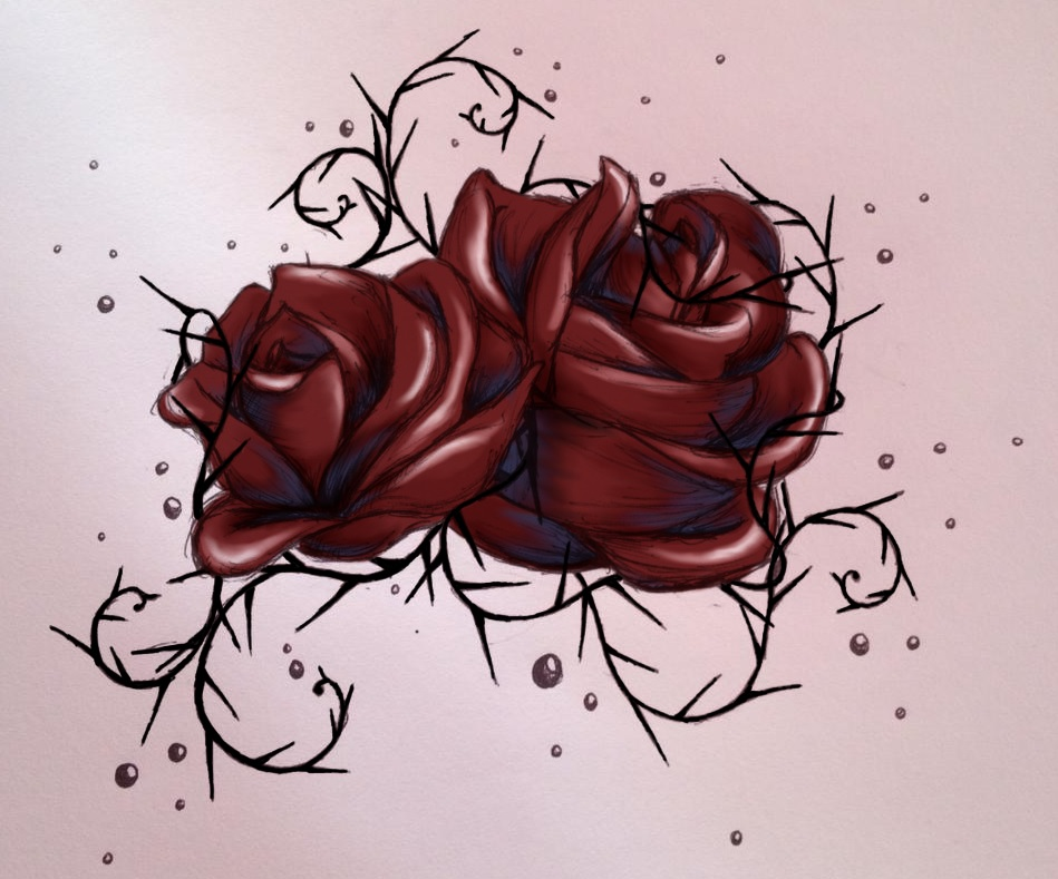 949x789 With Roses Comes Thorns By Rippedangelwingz