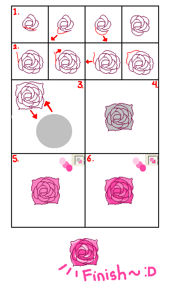 586x1018 Drawing Rose Tutorial In Paint By Tiaschi810