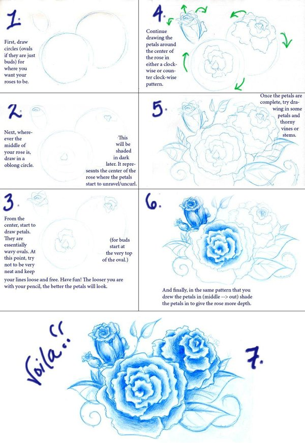 600x871 Rose Tutorial For Zgercax By Voicelesscry
