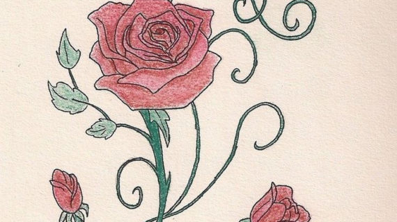 92e6ef8b6 Rose Vine Drawing Designs at GetDrawings.com | Free for personal use ...