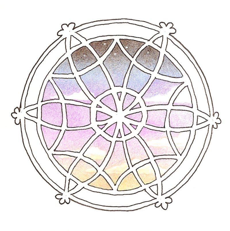 800x805 Cartoony Rose Window