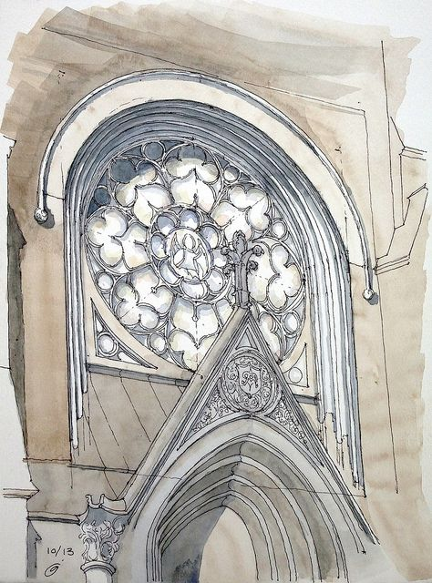 474x640 Rose Window Rose Window, Sketches And Churches