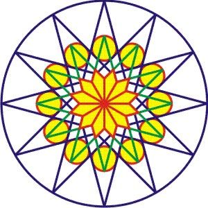 300x300 Basic Design Of Rose Window Art