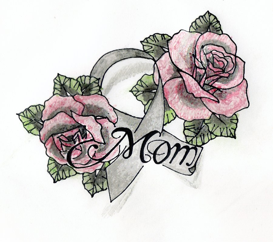 Rose With Ribbon Drawing at GetDrawings.com | Free for ...  Rose With Ribbo...