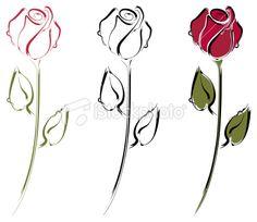 236x204 Rose Bud Line Drawing