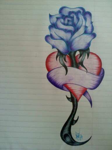 384x512 Gallery Pencil Drawings Of Roses And Hearts,
