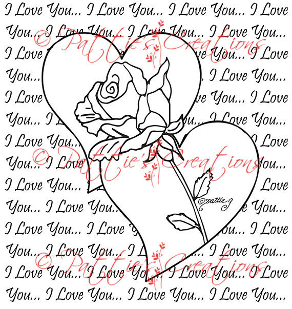 570x603 I Love You Hearts And Roses