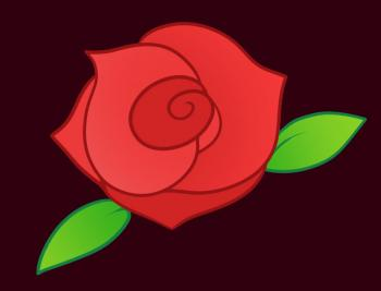 350x267 How To Draw How To Draw A Rose For Kids