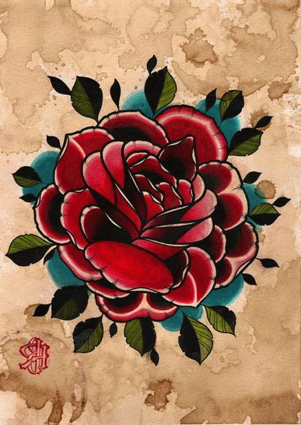 437x618 Old Paper Rose Drawing Tattoo Best Tattoo Ideas Gallery
