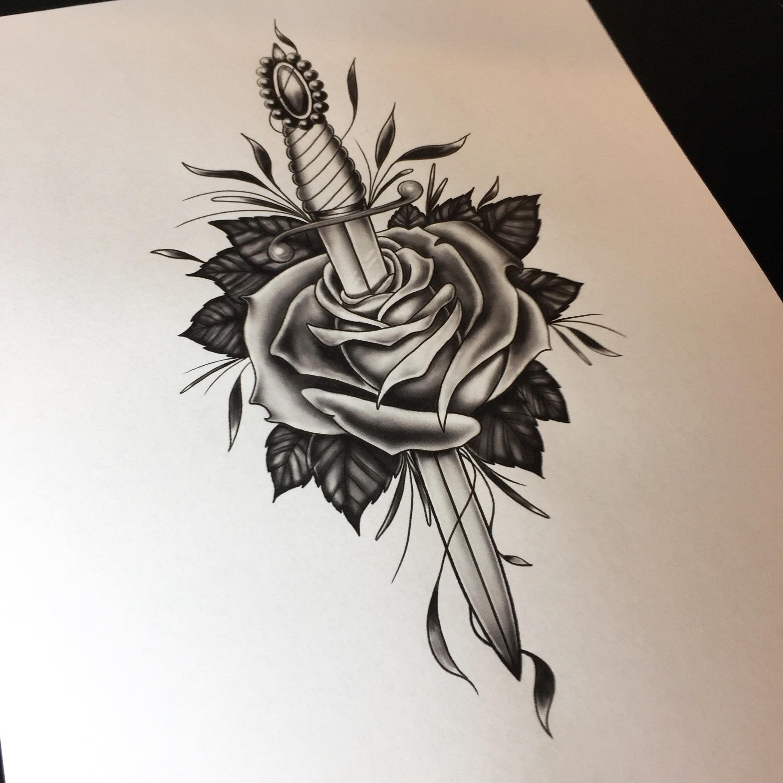 2448x2448 Rose Drawing Tattoo