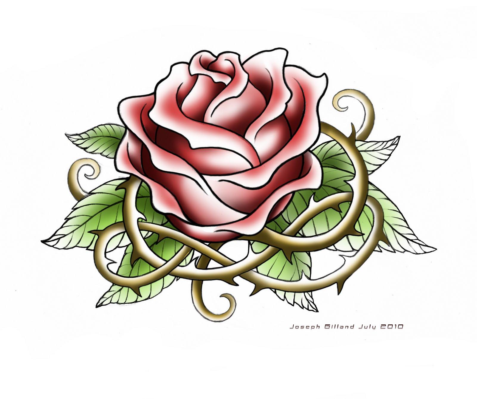1600x1338 Rose Tattoo Design
