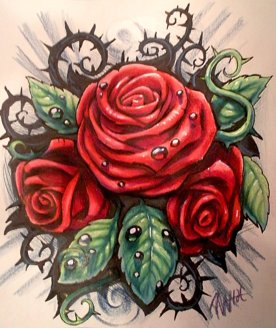 900x1070 Hoontoidly Rose Drawing Tattoo Images