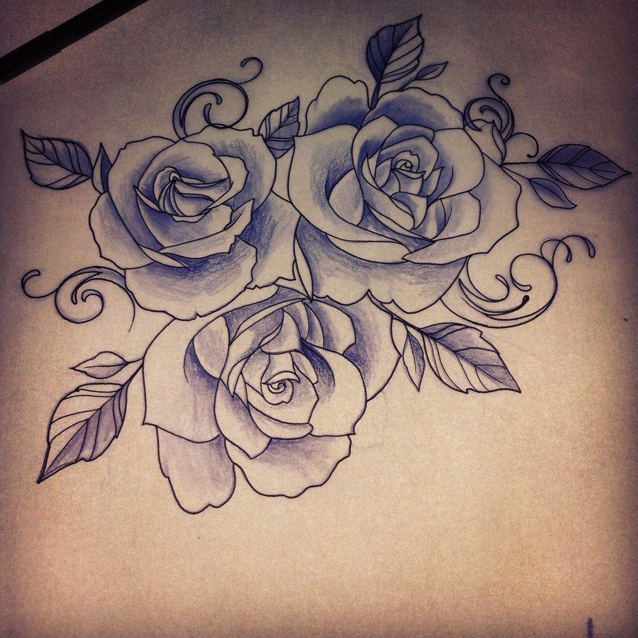 1280x1280 Sugar Skull Rose Drawing