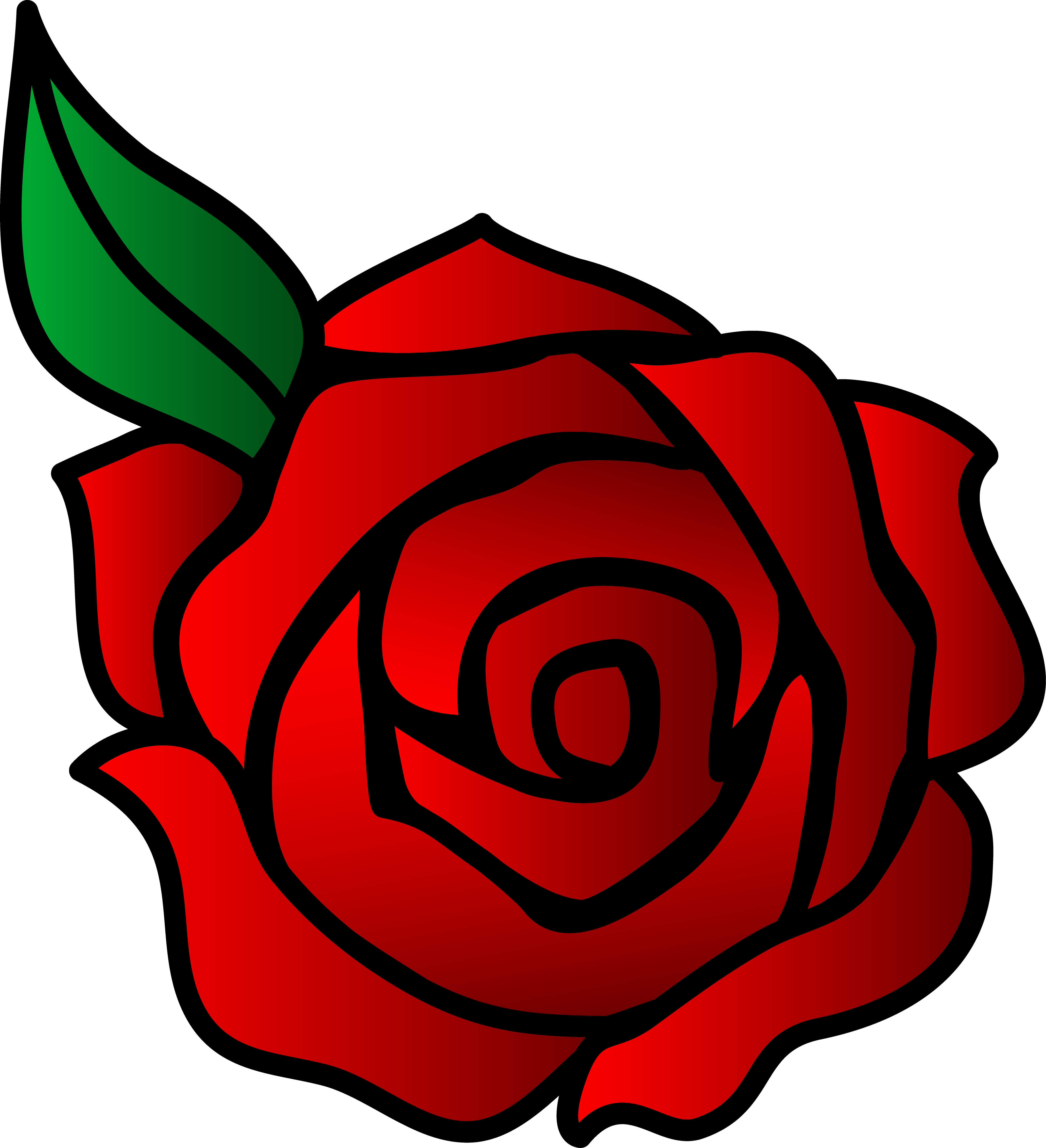 4042x4434 Easy Rose Drawing Outline