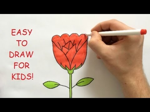 480x360 How To Draw A Rose Step By Step For Kids