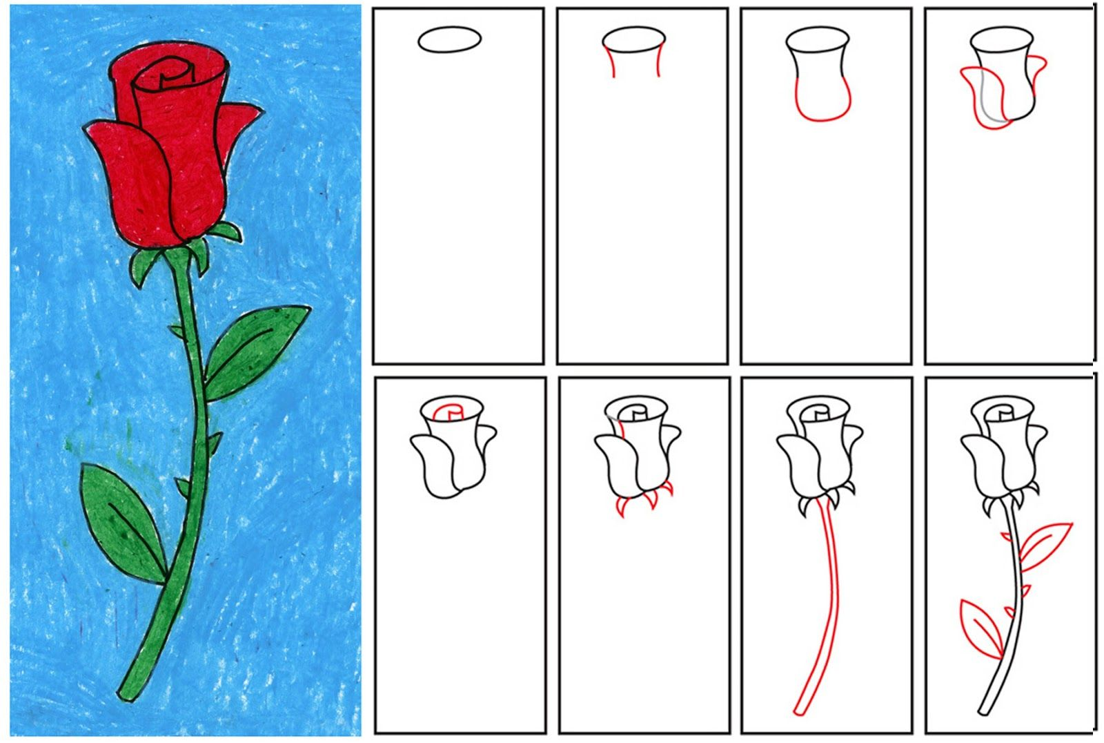 1600x1076 How To Draw A Rose How To Draw Roses Step By Step For Beginners