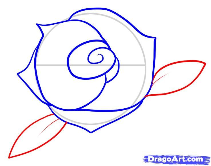 738x579 How To Draw A Rose For Kids Step 6 Roses And Watercolor