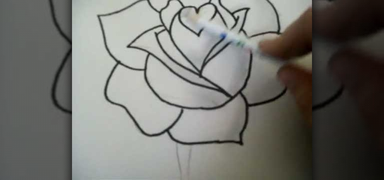 1280x600 drawn 3d art rose