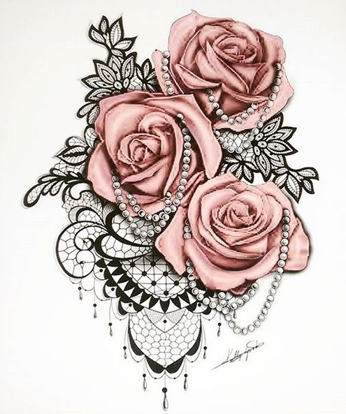 495x593 Inked Roses And Pearls. Possible Sleeve Tattoos I Like