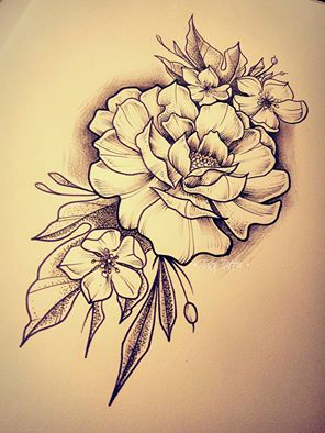 296x394 Roses, Tattoo Sketch Made By Taty Tattoo Rose Rosa Flowers Fiori
