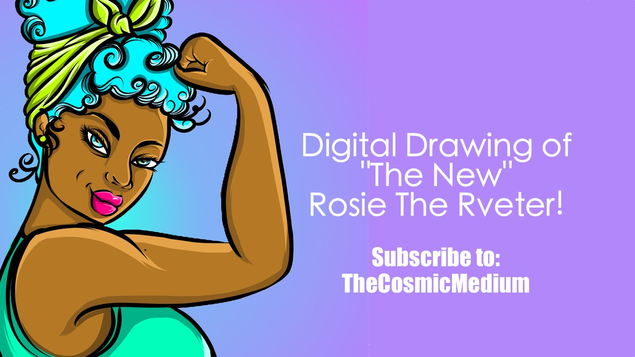 1280x720 How To Draw Rosie The Riveter Digital Drawing