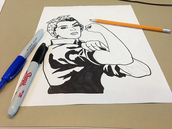 600x450 Rosie The Riveter T Shirt On Behance