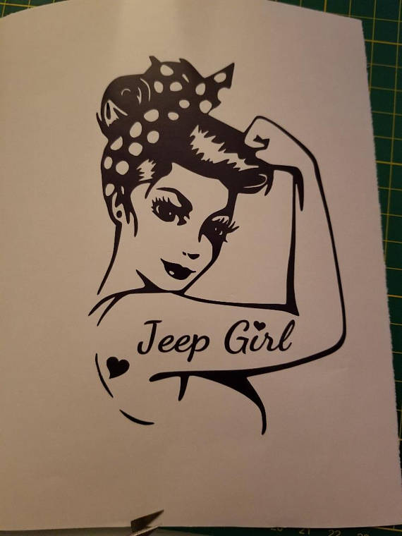 570x760 Rosie The Riveter Tattoo Jeep Girl Vinyl Decal For Your Jeep