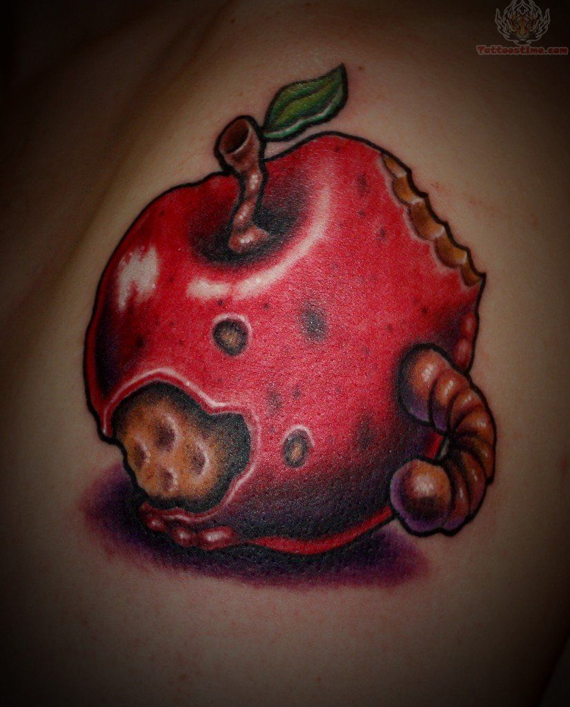 826x1024 Rotten Apple Core Tattoo Rotten Apple Tattoo Rotten Apple