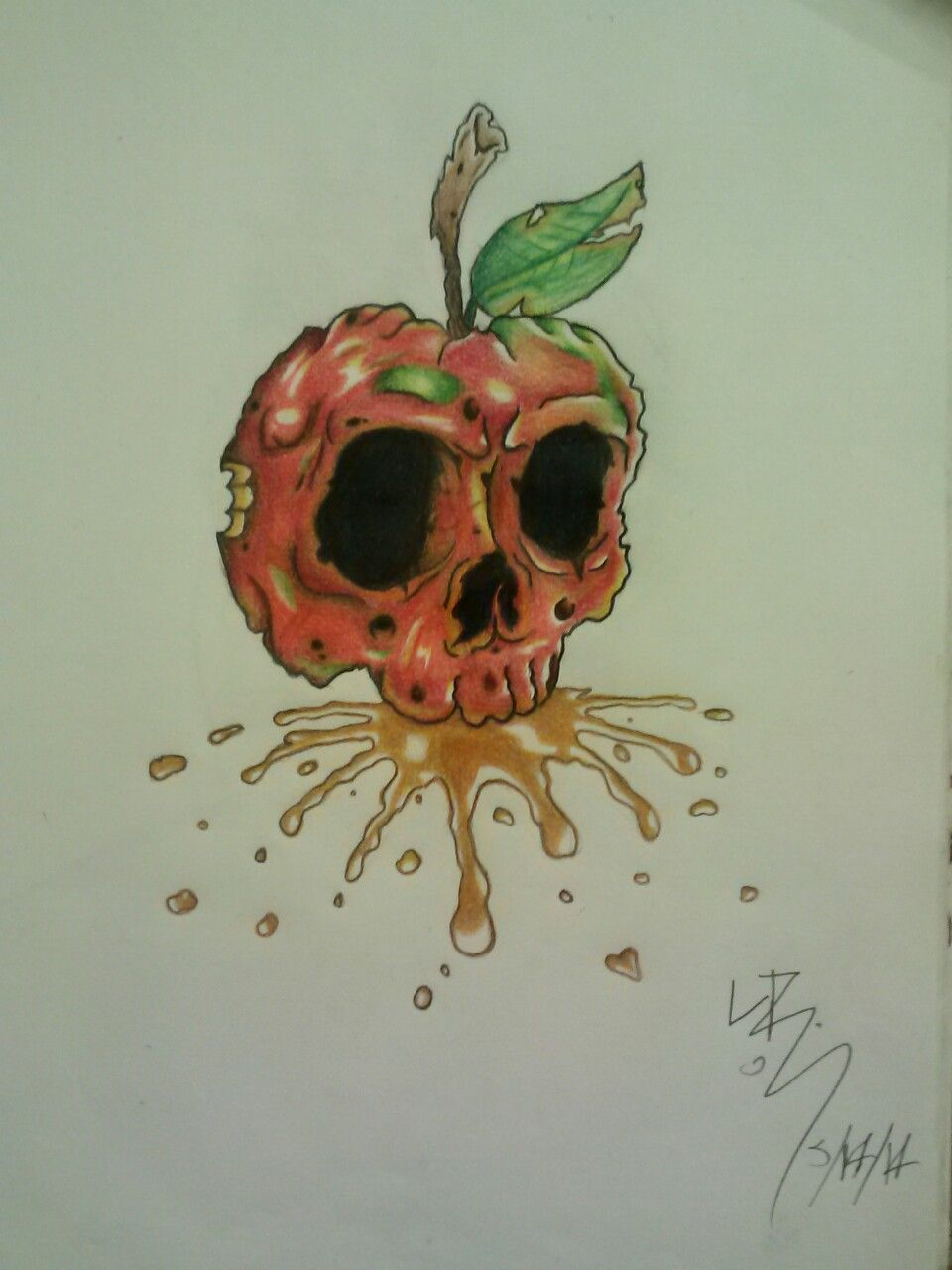 960x1280 Rotten Apple Drawing. Drawingsartwork