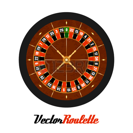 450x450 Casino Gambling Roulette Wheel Doodle Style Sketch Illustration