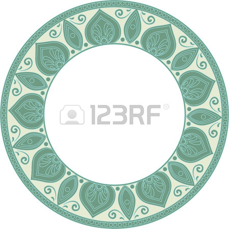 450x450 Drawing Of A Abstract Vector With Floral Round Lace Mandala