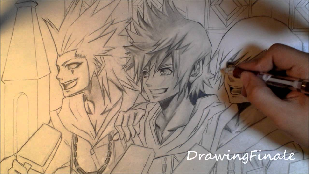 Kingdom Hearts Lineart : Roxas drawing at getdrawings.com free for personal use