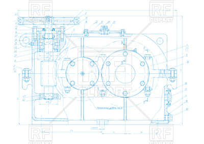 400x283 Engineering Drawing Background Royalty Free Vector Clip Art Image