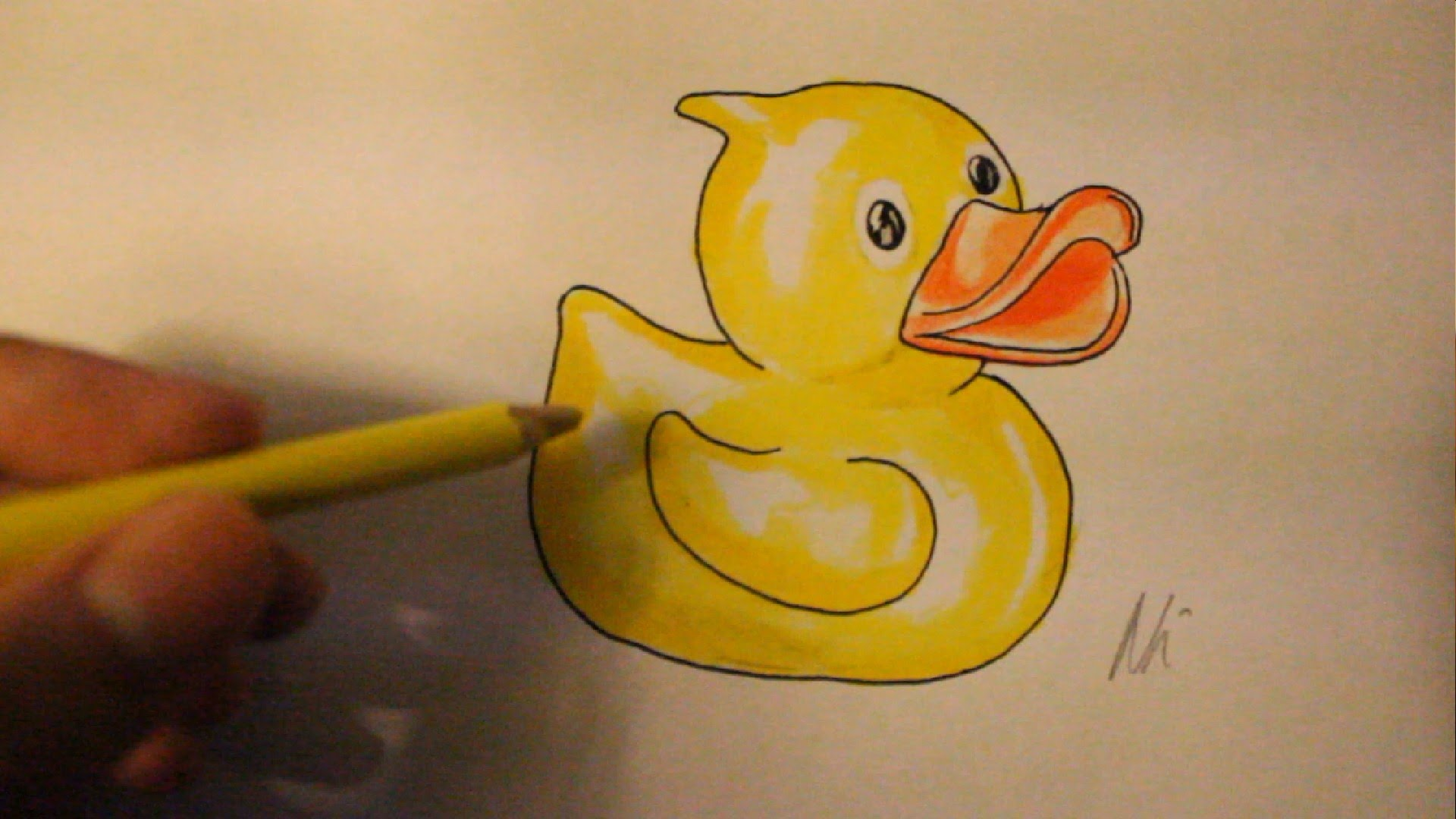 1920x1080 Easy Things To Draw For Beginners How To Draw Rubber Duck