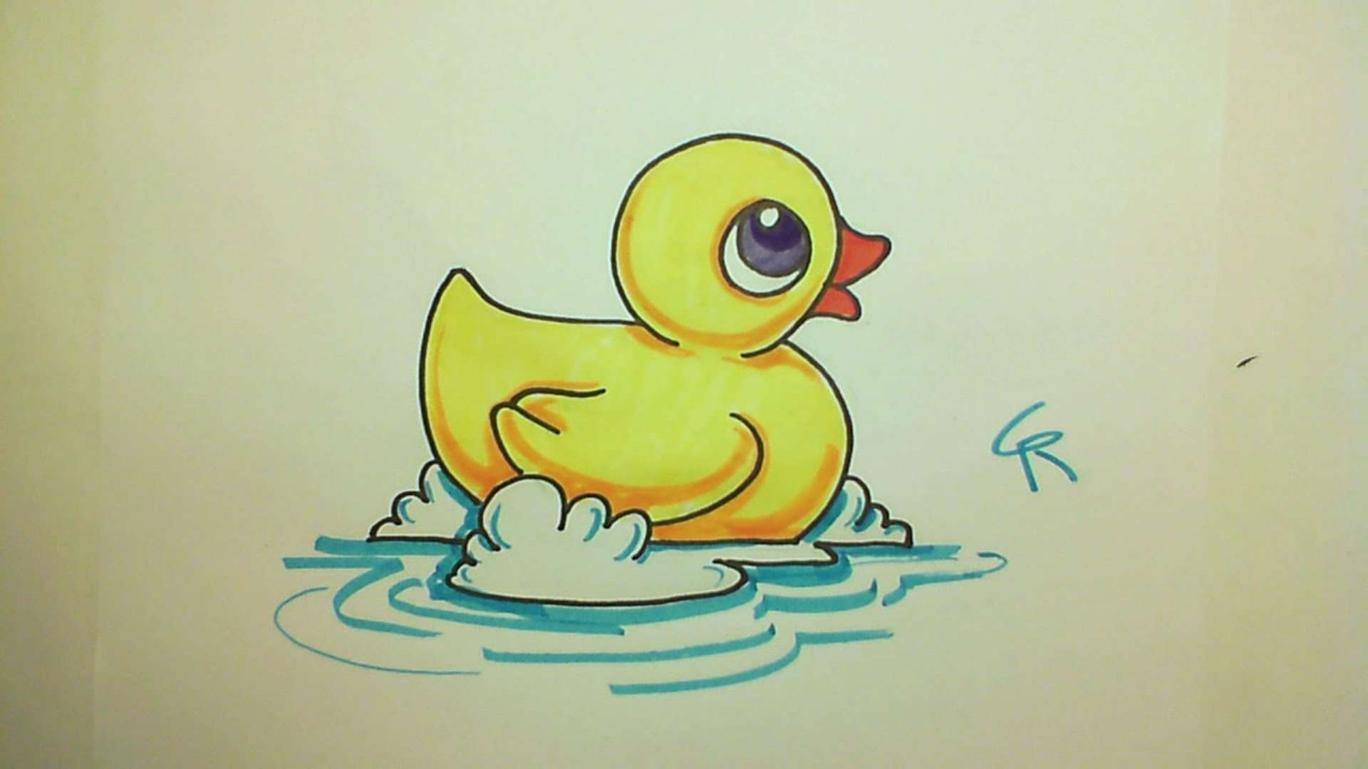 1920x1080 Learn How To Draw A Cute Rubber Ducky