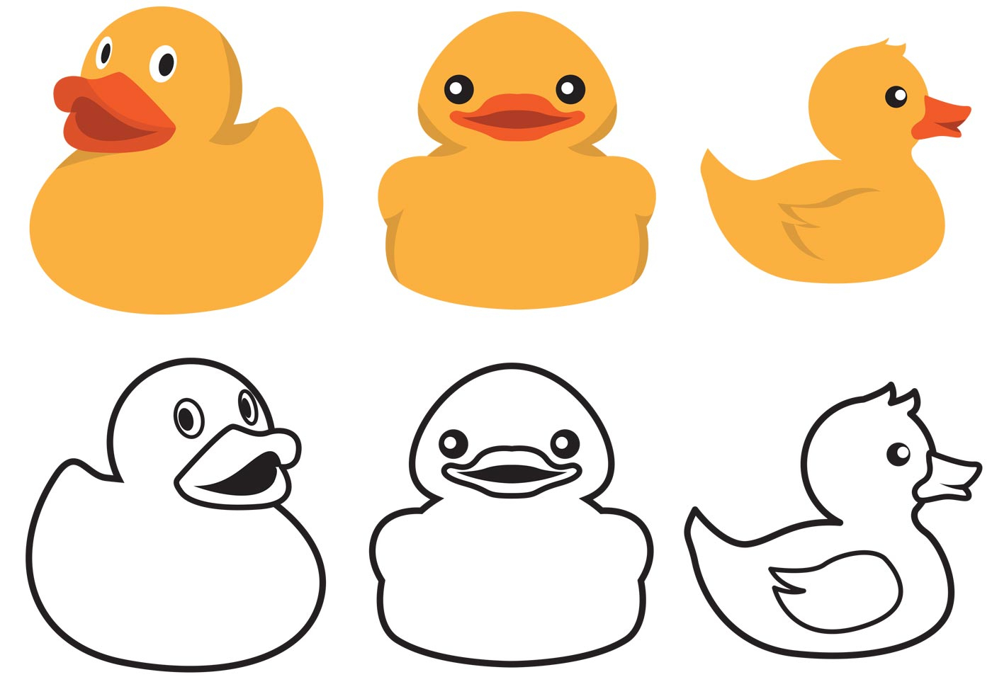 1400x980 Rubber Duck Outline Drawing Duck Outline Drawing Duck Outline