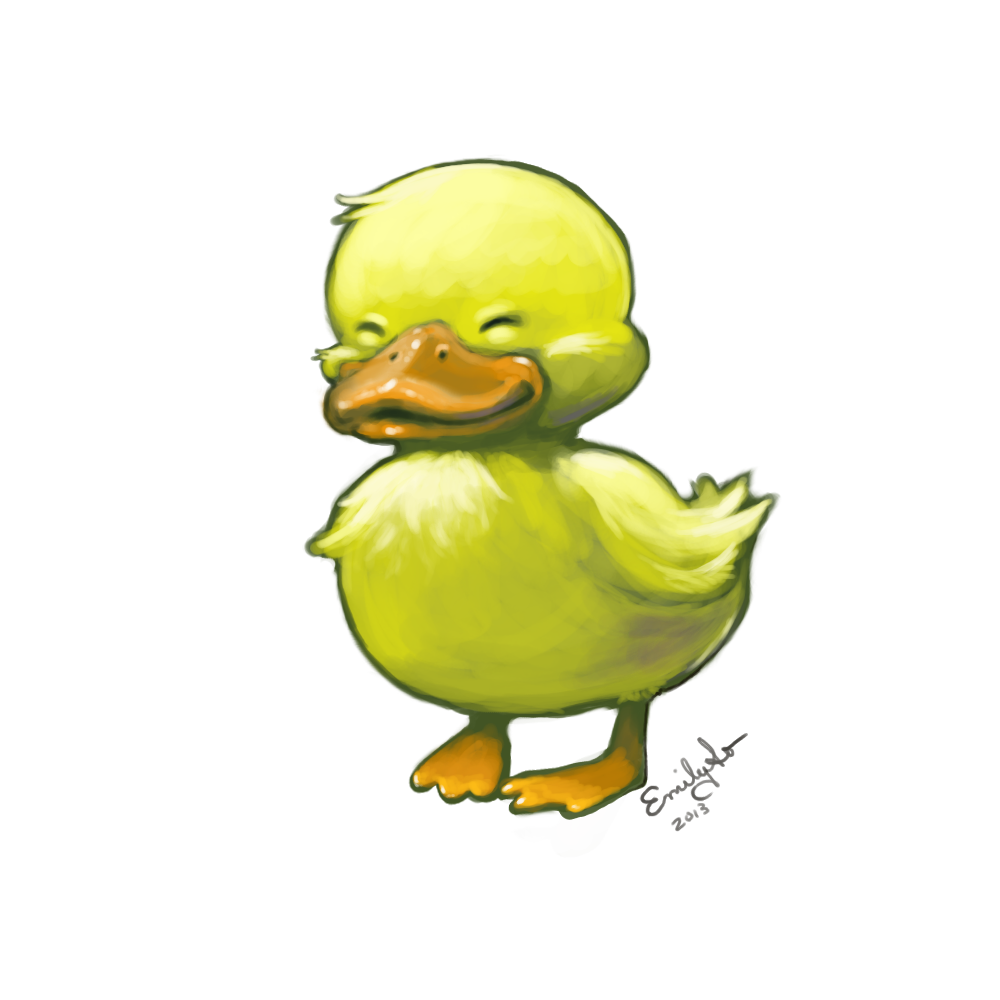 1000x1000 I Just Wanted To Draw A Duck. Emily So