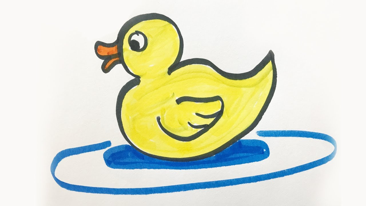 1280x720 How To Draw And Color A Baby Duck For Kids!