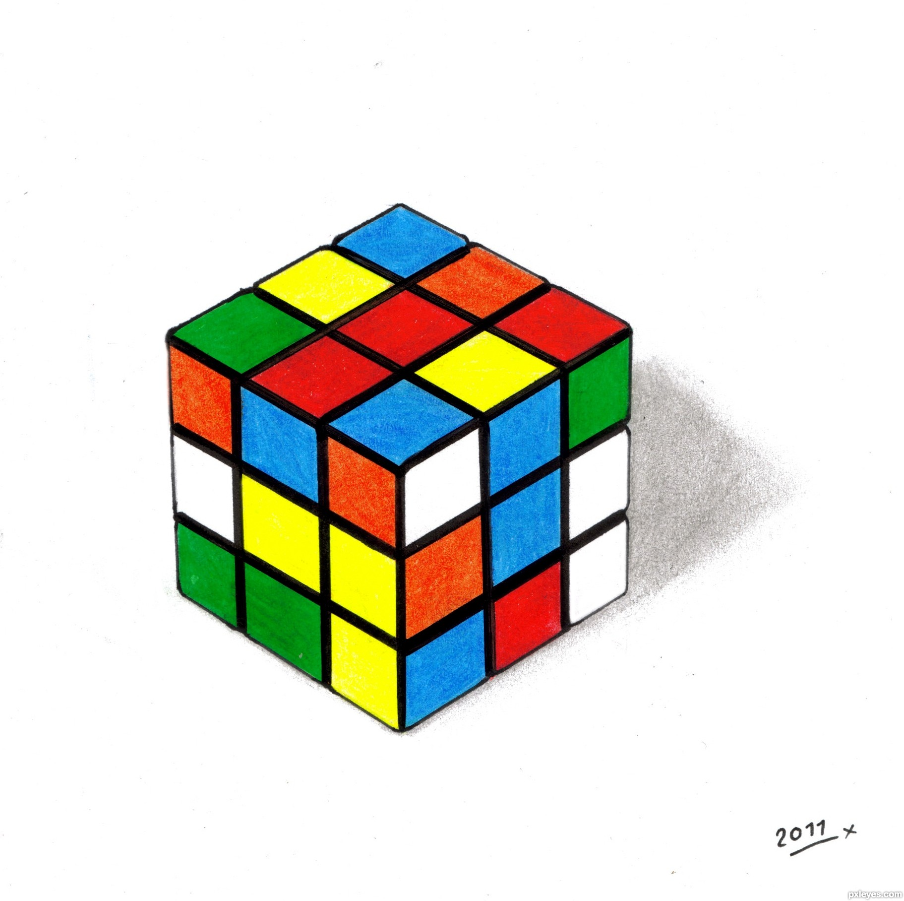1823x1816 My Rubik Cube Picture, By Loriann88 For Rubik Cube Drawing