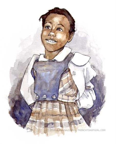 451x557 Ruby Bridges By Elena Nazzaro Ruby Bridges By Elena Nazzaro My