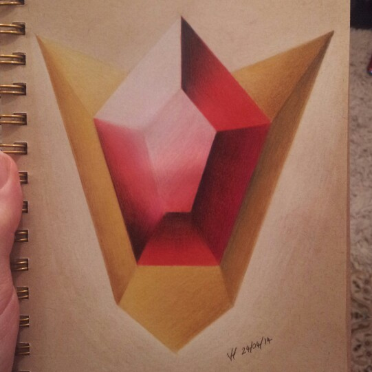 541x541 Gorons Ruby Polychromo Pencil Drawing From Yesterday ) My