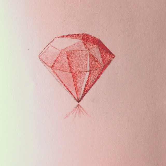 640x640 Ruby Gem Drawing Color Pencil Tattoos, Art, And Other Cool