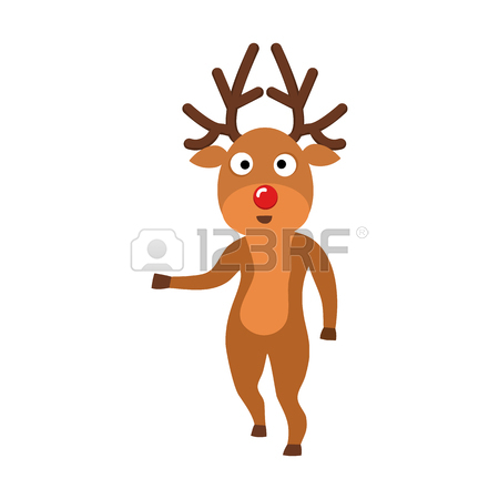 450x450 393 Rudolph The Red Nosed Reindeer Stock Vector Illustration