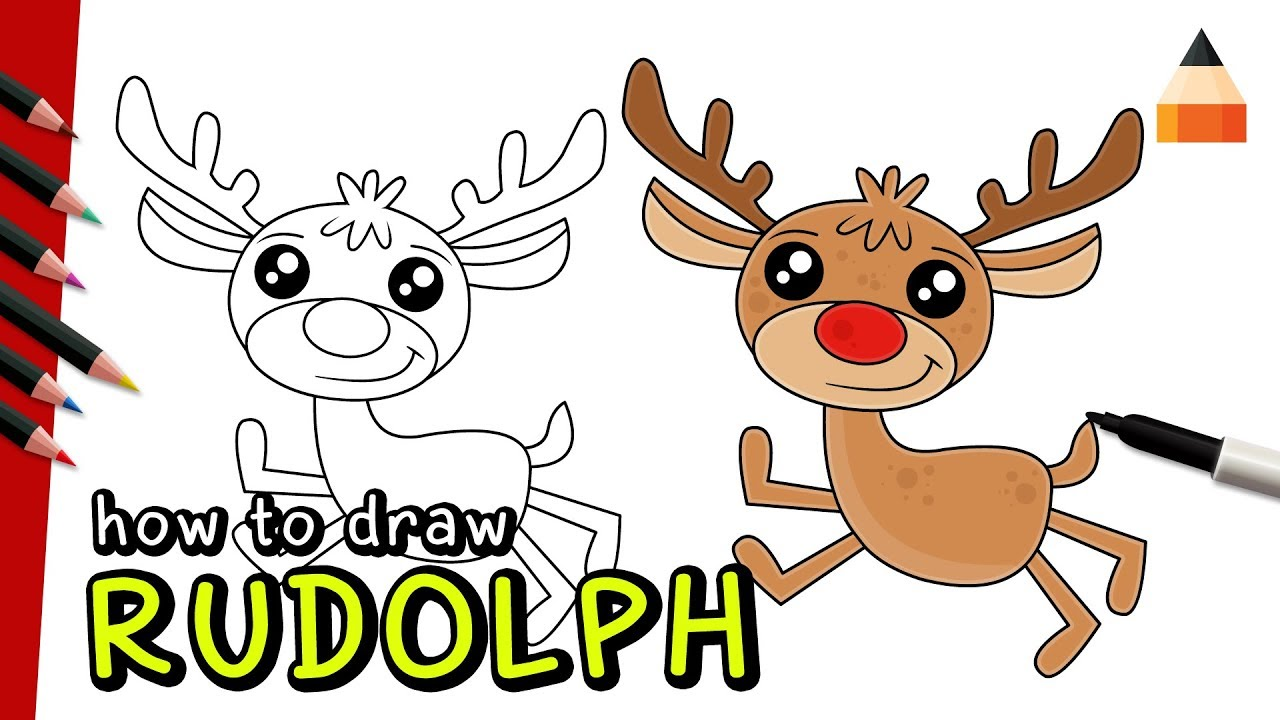 1280x720 How To Draw Rudolph Easy Rudolph The Red Nosed Reindeer