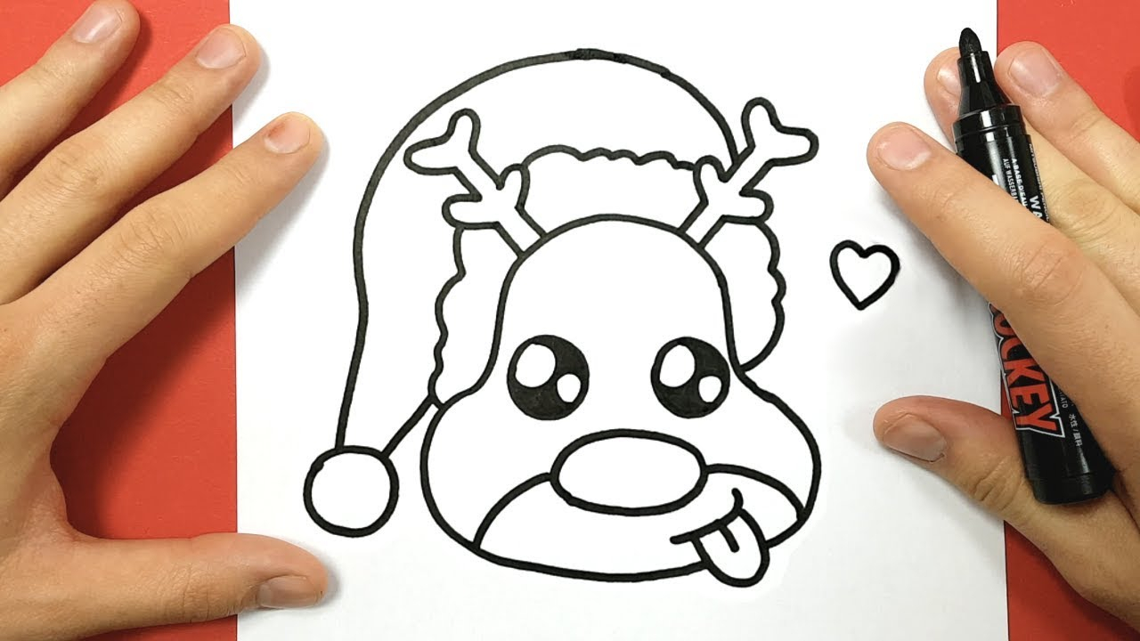 1280x720 How To Draw Rudolph Easy How To Draw Rudolph The Red Nosed