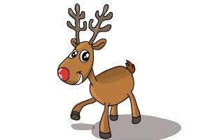 300x200 How To Draw Rudolph The Red Nosed Reindeer