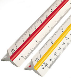 272x300 Rotring Multi Scale Ruler 30cm Technical Drawing Instrument Metric