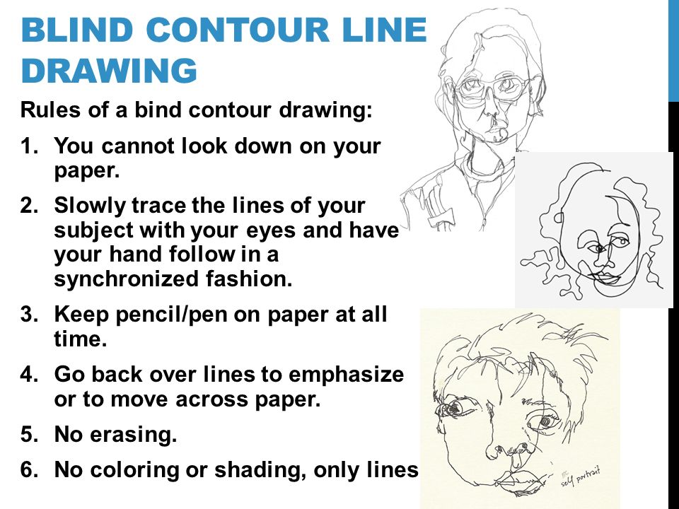 960x720 Contour Line Drawing. Jot Down Your Response To The Following
